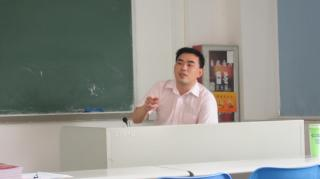 Mr. Luo gave speech to trainees