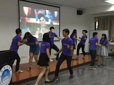 Students are performing group dance