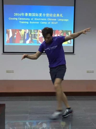 Student from Ukraine is performing hip-hop dance